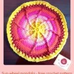 Sun Wheel Mandala by Maz Kwok's Designs