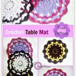 Crochet Table Mat by Erangi Udeshika of Crochet For You