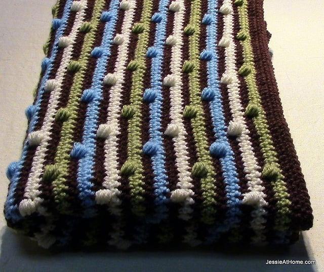 Joseph's Puff Stitch Blanket by Jessie At Home