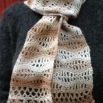 Stormy Sea Lace Scarf ~ ABC Knitting Patterns