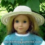 American Girl Doll Summer Breeze Hat ~ ABC Knitting Patterns