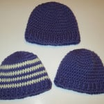 Baby Ribbed Band Hats by My Recycled Bags