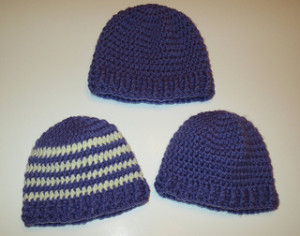 Baby Ribbed Band Hats ~ My Recycled Bags
