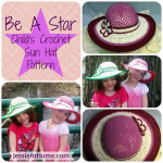 Be A Star Child's Crochet Sun Hat by Jessie At Home