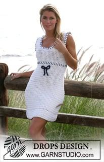 Hey Sailor! Crochet Dress by DROPS Design