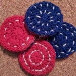 Reversible Coasters with Contrast Stitching ~ Niki Wyre - cRafterChick.com