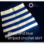 White and Blue Striped Crochet Skirt ~ Erangi Udeshika - Crochet For You