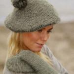 Crochet Beret Hat and Mittens ~ DROPS Design