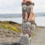 Crochet Wrist Warmers ~ DROPS Design