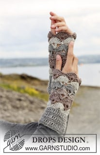 Crochet Wrist Warmers ~ DROPS Design