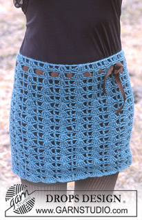Crocheted Skirt by DROPS Design