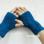 Braided Fingerless Gloves ~ Hannicraft