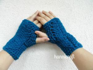 Braided Fingerless Gloves ~ Hannicraft