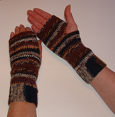 Basic Fingerless Gloves ~ My Recycled Bags