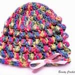 Spring Baby Bobble Crochet Hat ~ Beauty Crochet Pattern