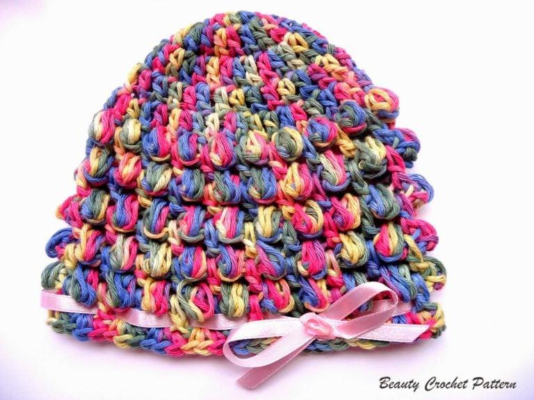 Spring Baby Bobble Crochet Hat by Beauty Crochet Pattern