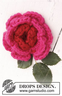 Crochet DROPS Flower by DROPS Design