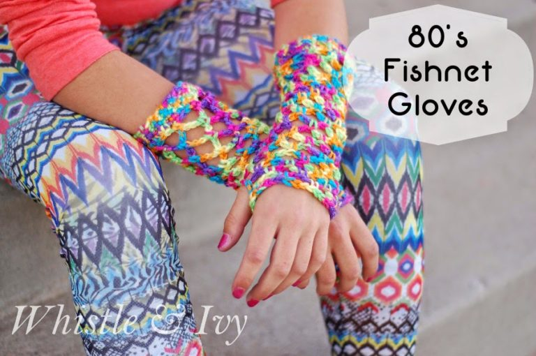 80's Fishnet Gloves by Whistle & Ivy