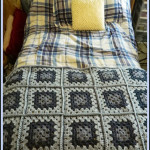 Blue Granny Square Baby Blanket ~ Heather's Crochet Blog