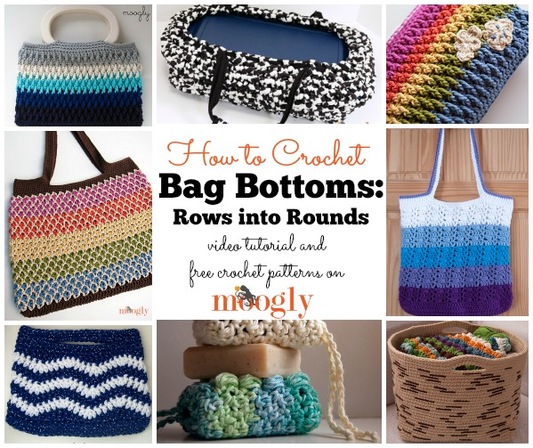 How to Crochet Bag Bottoms by Moogly