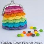 Bonbon Kisses Crochet Pouch ~ Moogly