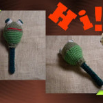 Bungee the Floppy Funmigurumi Frog Rattle ~ Craftybegonia's Funmigurumi and Kid's Stuff
