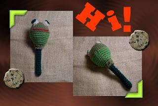 Bungee the Floppy Funmigurumi Frog Rattle ~ Craftybegonia's Funmigurumi and Kid's Stuff