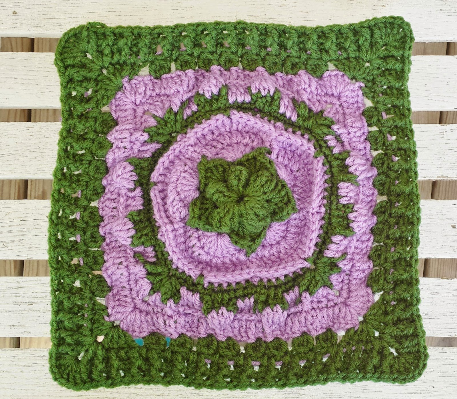 "Sea Flower 12"" Square by DragonFlyMomof2 Designs"