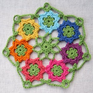 April Garden Motif and Doily ~ Mr. Micawber's Recipe for Happiness