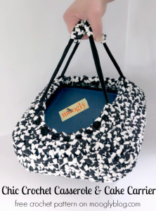 Chic Crochet Casserole And Cake Carrier by Moogly