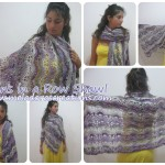 Fans in a Row Lacy Shawl by Meladora's Creations