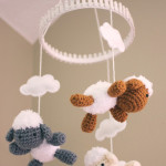 Crochet Lamb and Baby Mobile ~ Repeat Crafter Me
