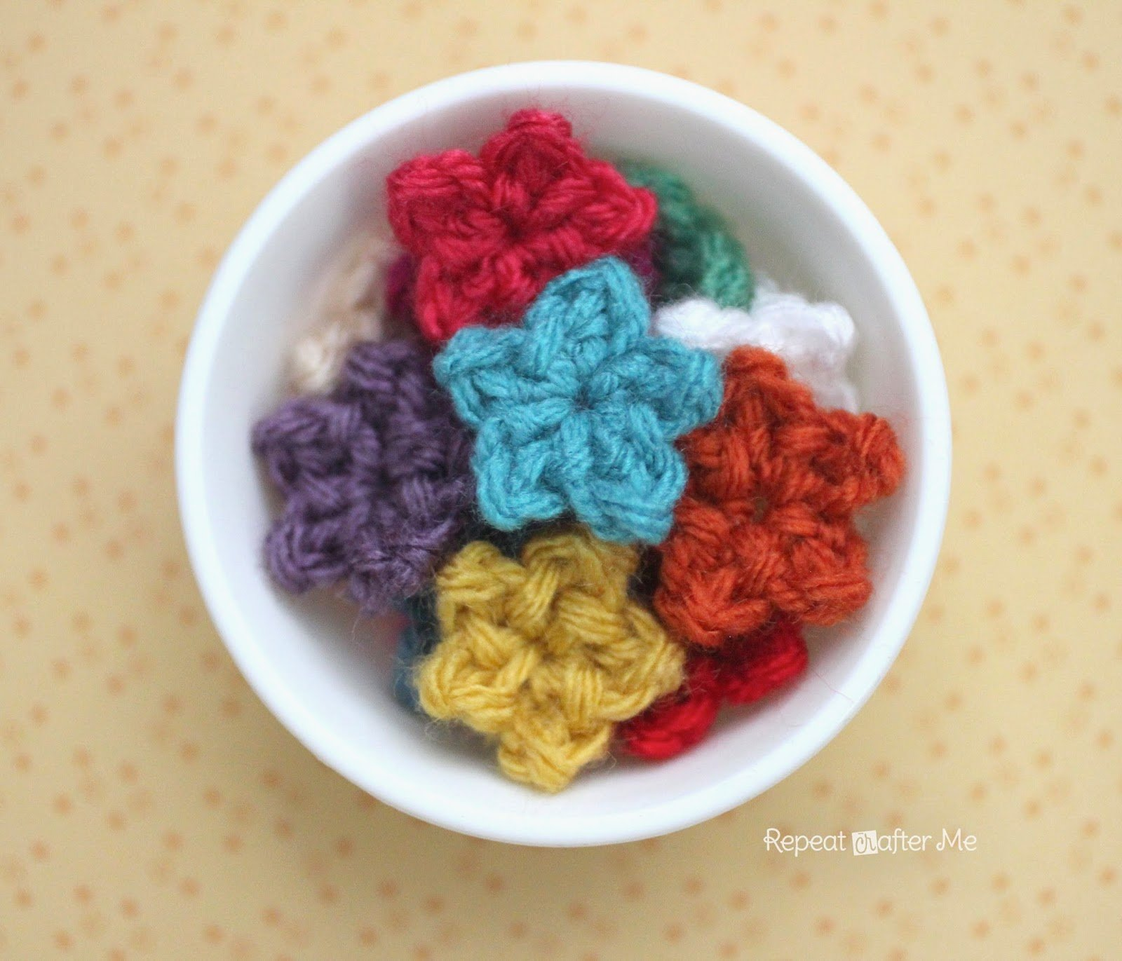 Teeny Tiny Crochet Stars by Repeat Crafter Me