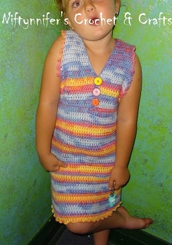 Size 6 Girls Super Cute Dress ~ Jennifer Gregory - Niftynnifer's Crochet & Crafts