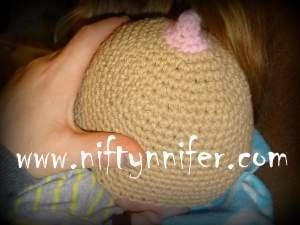 Breast Feeding Baby Hat by Jennifer Gregory of Niftynnifer's Crochet & Crafts