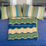 Triple Ripple Chevron Throw Afghan ~ Sara Sach - Posh Pooch Designs