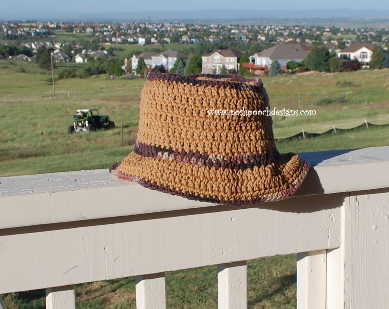 Opa's Hat - Men's Summer Hat ~ Sara Sach - Posh Pooch Designs