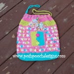 Sweet Treats Drawstring Beach Bag by Sara Sach of Posh Pooch Designs
