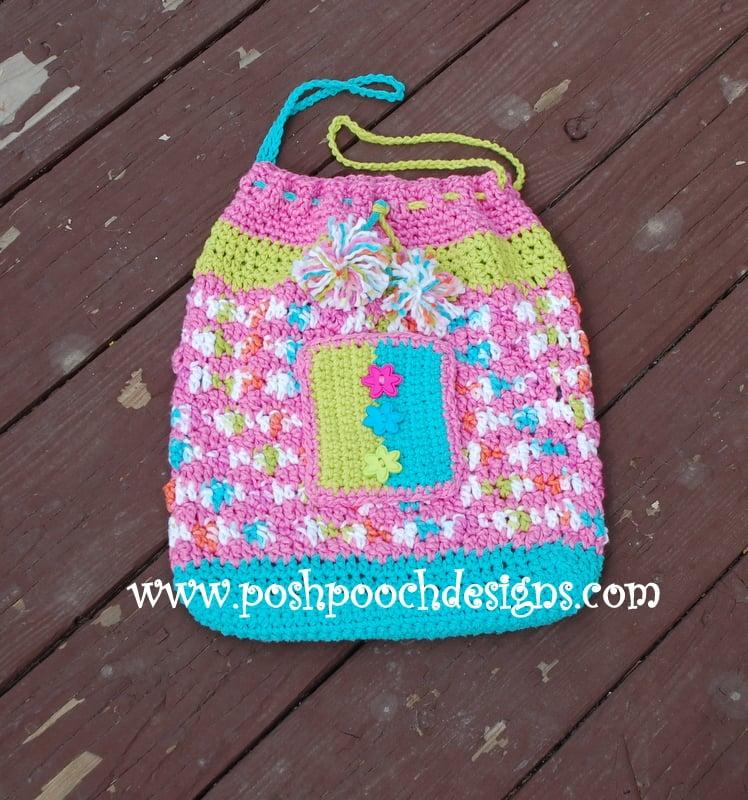 Sweet Treats Drawstring Beach Bag by Sara Sach of Posh Pooch Designs