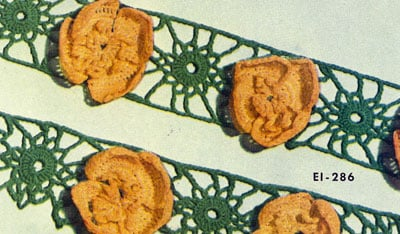 Buttercup Edging & Insertion by Free Vintage Crochet