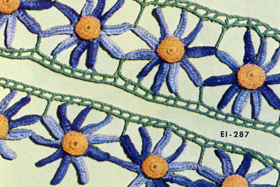 Aster Edging & Insertion ~ Free Vintage Crochet