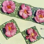 Apple Blossom Edging & Insertion ~ Free Vintage Crochet