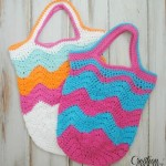 Chevron Market Bag ~ Cre8tion Crochet