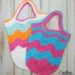 Chevron Market Bag ~ Cre8tion Crochet