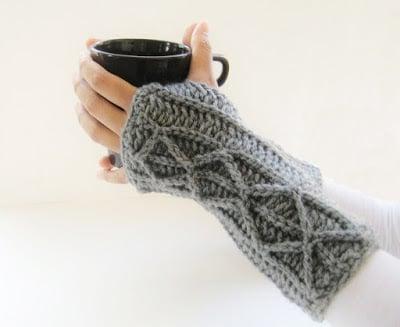 Adeline Fingerless Mitts ~ Crochet Dreamz
