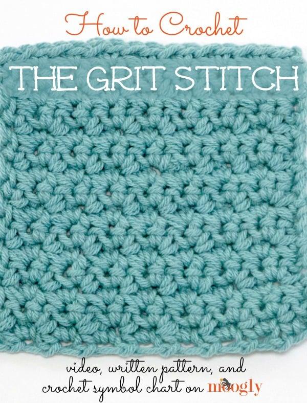 Crochet Stitches Moogly : The Grit Stitch ~ Moogly - Crochet Pattern Bonanza