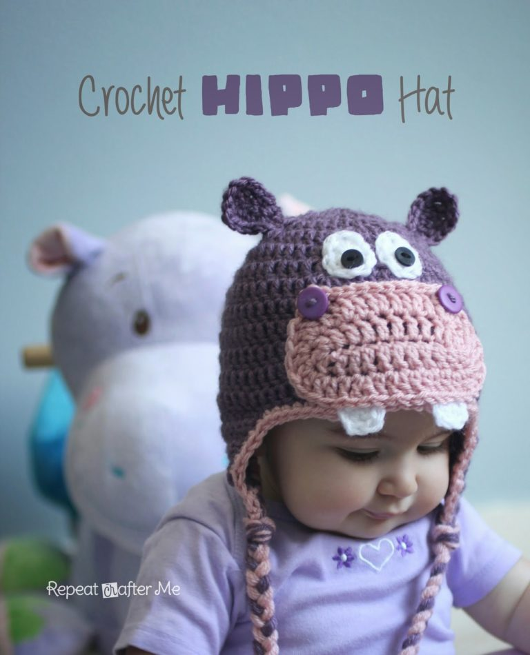 Crochet Hippo Hat by Repeat Crafter Me