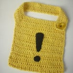 Alert Sign Crochet Bib by Curupisa