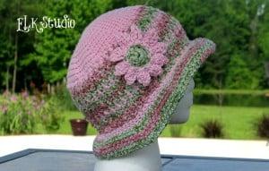 Honey Suckle - A  Free Crochet Summer Hat ~ Kathy Lashley - ELK Studio