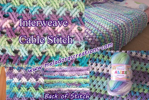 Interweave Cable Stitch by Meladora's Creations